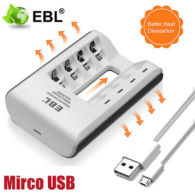 USB Display Intelligent Fast Battery Charger for AA AAA Rechargeable Batteries
