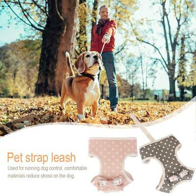 Dots Printed Dog Harness Leash Set Pet Puppy Soft Vest Outfit Traction Rope Kit