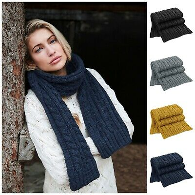 Mens Womens Ladies Long Chunky Knit Knitted Winter Soft Neck Warmer Ski Scarf