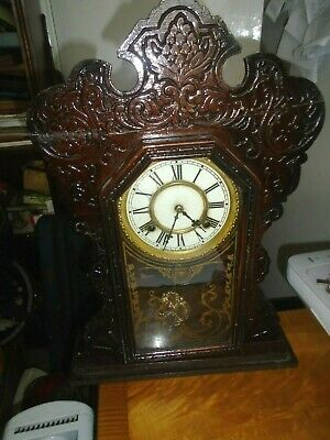 Antique American (Waterbury) Ginger-Bread Clock