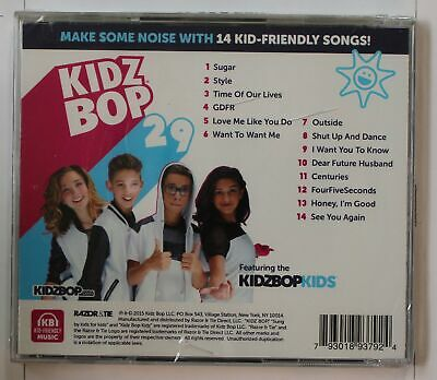Kidz Bop 29 (Biggest Hits Sung By Kids For Kids) US CD 2015