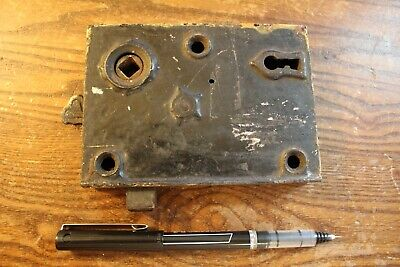Antique Cast Iron Door Lock Assembly Patented December 1842 & 1856