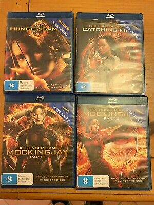 All 4 Hunger Games Movies / HG / Catching Fire / Mockingjay 1&2 Bluray Full Set