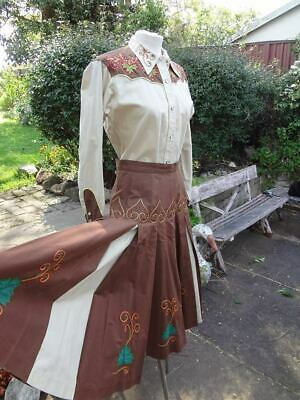 Vintage western suit shirt skirt rockabilly viva rodeo cowgirl 50s 60s line
