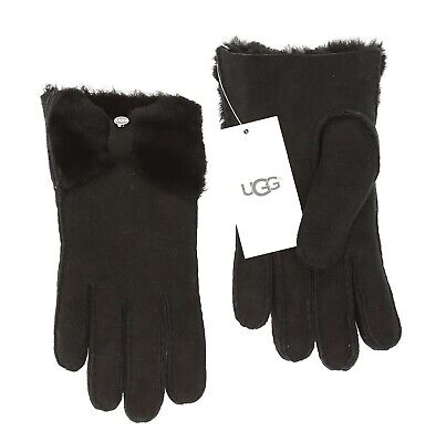 UGG Women's Bow Shorty Glove in Black 0404 Size S