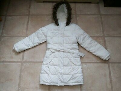 Gorgeous Girls Debenhams Fleece Lined White Winter Coat 9 Years