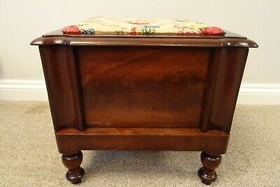Antique Mahogany Storage Work Box/Sewing Chest/Collectors Box