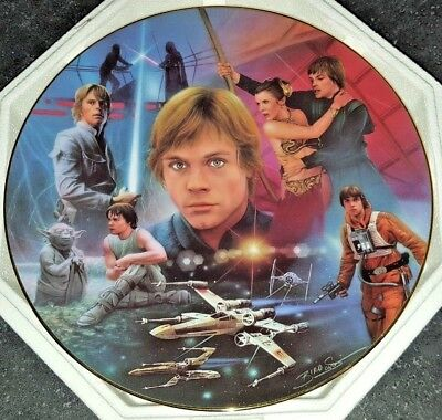 STAR WARS Luke Skywalker  The Hamilton Collection Collectors Plate 1996