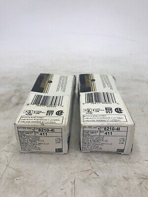 LOT OF 2 Leviton 8210-4I Self-Grounding Hospital Grade Single Receptacle Ivory