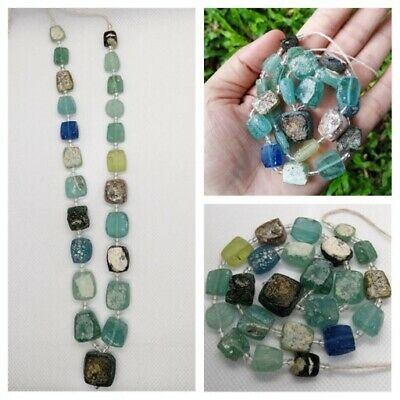 Authentic Ancient Roman Empire Glass Beads Artifacts Antiquities Old Roman Glas