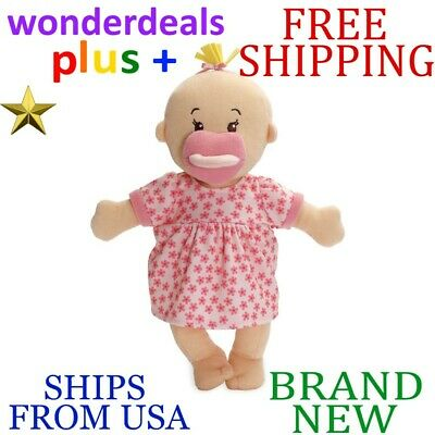 *New* MANHATTAN TOY Wee Baby Stella Peach 12-in. DOLL w Magnetic Pacifier 153090