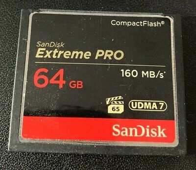 Sandisk 64GB Extreme Pro Compact Flash Memory card 160 mb/s write speed