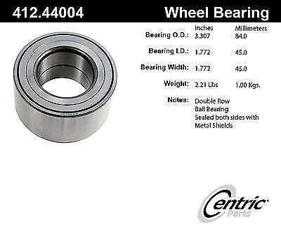 Centric 406.45003E Standard Axle Bearing and Hub Assembly