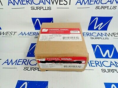 Federal Signal 350-120-30 Vibratone Horn 120Vac Gray New