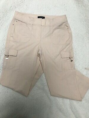 WHITE HOUSE BLACK MARKET Cropped Misses pink Cargo Pants Size  8