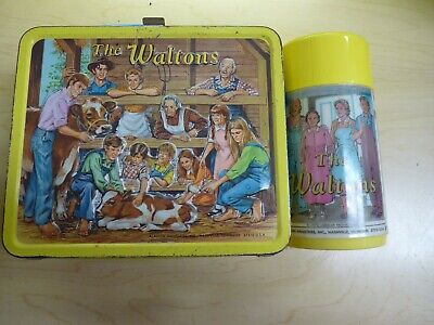 1973 Vintage THE WALTONS Metal LUNCH BOX and THERMOS