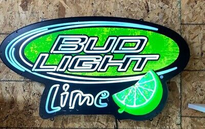 Bud Light Lime beer led  light up bar sign game room man cave ANHEUSER busch