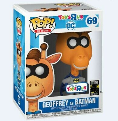 Funko Pop! Ad Icons DC Geoffrey as Batman #69 Toys R Us Exclusive - Mint In Hand