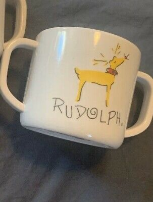 POTTERY BARN KIDS RUDOLPH BABY SIPPY CUPS - Set Of 2