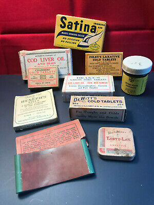 "Vtg Drug Store Pharmacy Lot ""King"" Razor Sharpener Blackstone's Foley's Chambers"