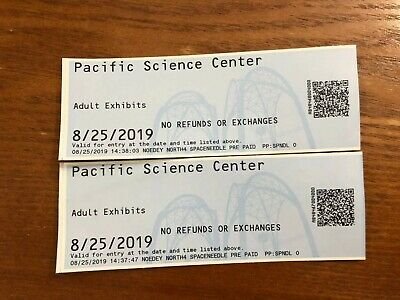 Seattle City Pass space needle Chihuly Pacific Science Center monorail e-ticket