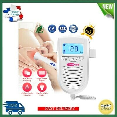 Doppler Fœtal Ultrasons Bébé Battement de coeur Enceinte Fetal Doppler