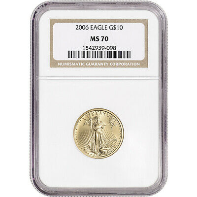 2006 American Gold Eagle (1/4 oz) $10 - NGC MS70