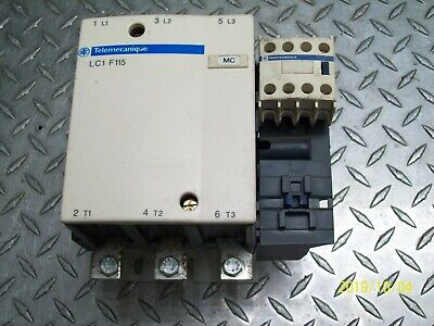 TELEMECANIQUE LC1 F115 CONTACTOR w LADN22 AUXILIARY CONTACT