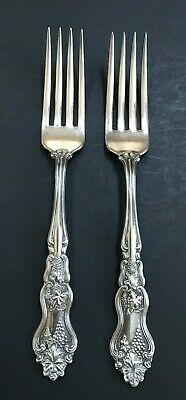 "2 Dinner Forks 7.5"" Moselle 1906 Silverplate American Silver Co Int'l Silver"