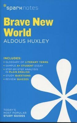 NEW Brave New World by Aldous Huxley By Sparknotes Paperback Free Shipping