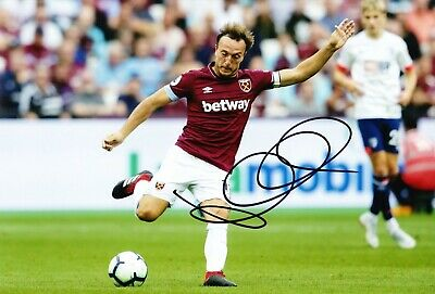 Mark Noble Signed 12X8 Photo West Ham United GENUINE SIGNATURE AFTAL COA (1880)
