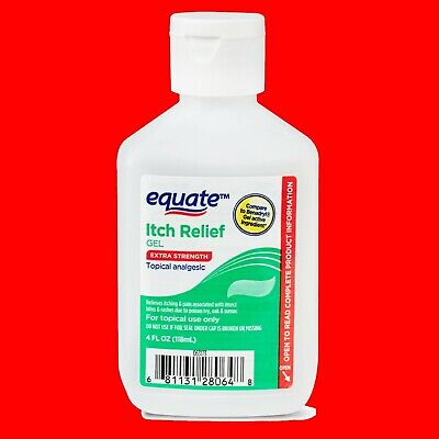 EXTRA STRENGTH Stop Itching Stopping Analgesic GEL Relief 4oz Equate vs Benadryl