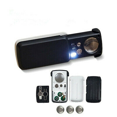 Backlight LED Lights Glass Optical Lens  Magnifier Jewelry Loupe Microscope