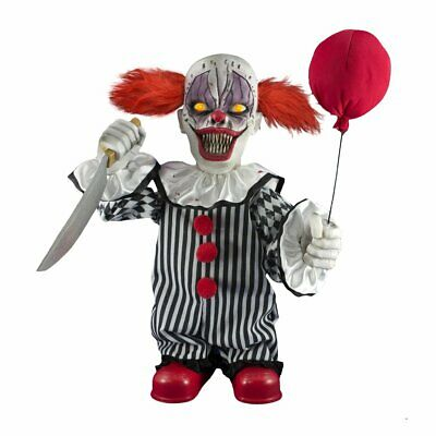 Halloween Decoration ANIMATED TERROR CLOWN PROP Haunted House IN STOCK NOW