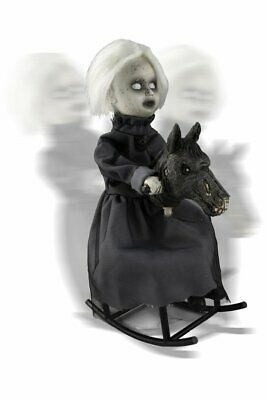 Halloween Decoration ANIMATED ROCKING HORSE PROP Haunted House IN STOCK