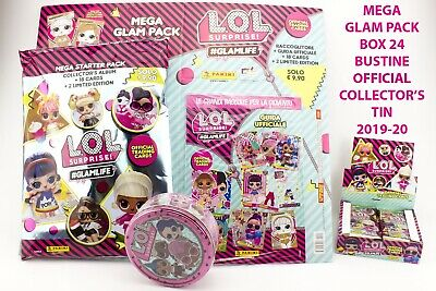 Lol Surprise! 2 Glam Pack 2020 Raccoglitore Official Trading Cards Box 24 + Tin