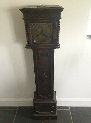 Very nice oak Jacobean 1930 grandmother clock