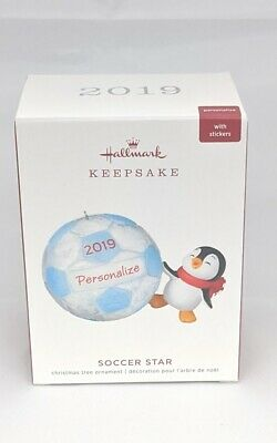 Hallmark Keepsake 2019 Soccer Star Penguin Dated DIY Personalization Ornament
