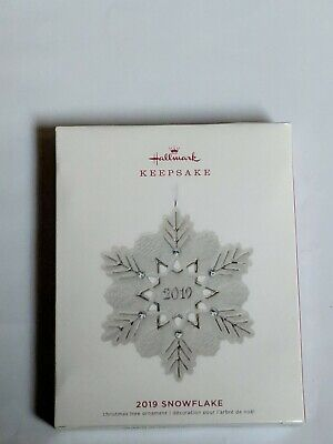 Hallmark Keepsake 2019 Snowflake Porcelain Dated Ornament