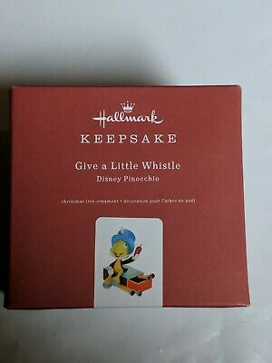 Hallmark Keepsake 2019 Disney Pinocchio Give a Little Whistle Metal Ornament