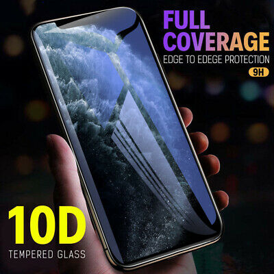 [2-Pack]For iPhone 11 Pro Max XR XS Max 9D Tempered Glass Full Screen Protector