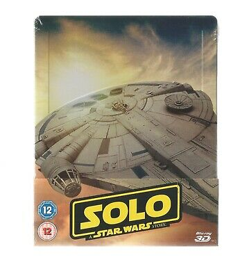 Solo : A Star Wars Story - Uk Exclusive 3D + 2D Blu Ray Steelbook - New & Sealed