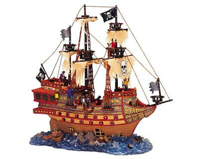 Video Lemax Spooky Town Haunted Ghost Galleon Halloween Village 35781 Read