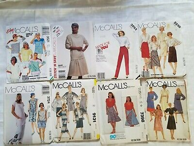Lot of 8 Vintage 1980s McCalls woman Sewing Patterns Size 16 and  Medium Uncut