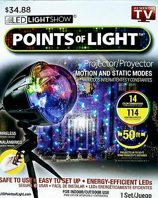 LED Lightshow Projection Points Of Light Christmas Remote 114 Programs Yard Deco