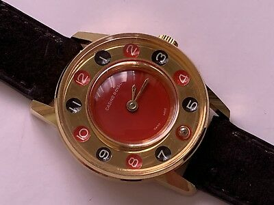 vintage casino royal gold red & black dial swiss made collectible 🇨🇭