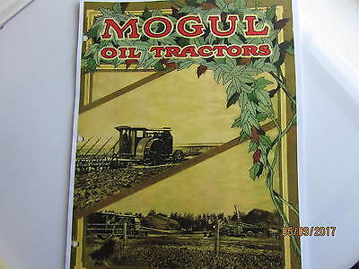IHC Mogul Oil Tractor  Catalog 8-16, 12-25, 30-60  International Harvester
