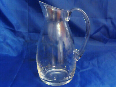"""Vintage Baccarat Glass Crystal PERFECTION Plain Pitcher or Carafe 9-5/8"""" Tall"""