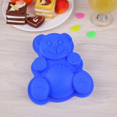 Bear Shape 3D Silicone Cookie Fondant Cake Mold DlY Baking Mold 2017 New Arrival