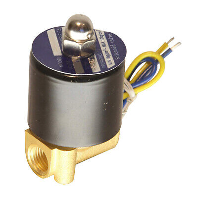 HFS 110v Ac or 12v Dc Electric Solenoid Valve Water Air Gas, Fuels N/c -...